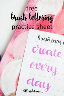 Brush lettering is my new favorite thing. Today you can grab your free practice sheet on my blog. Yippee!