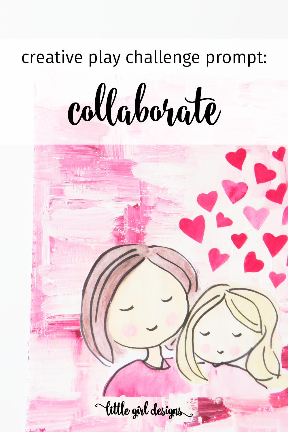 This week's prompt in the FREE creative play challenge is to collaborate with a friend. Here are some tips on how to make collaboration fun for both of you!