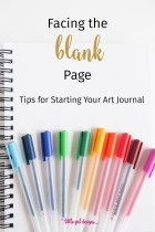 The Blank Page: Tips for Starting Your Art Journal