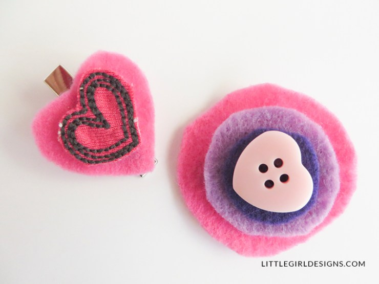 This upcycled button barrette is so simple to make! And it's cute and functional too! Make a bunch for your little girl. :)