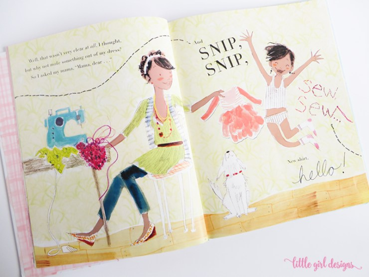 """""""I Had a Favorite Dress"""" is one of my favorite books. Love how creative the mom is with upcyclying her daughter's clothes!"""