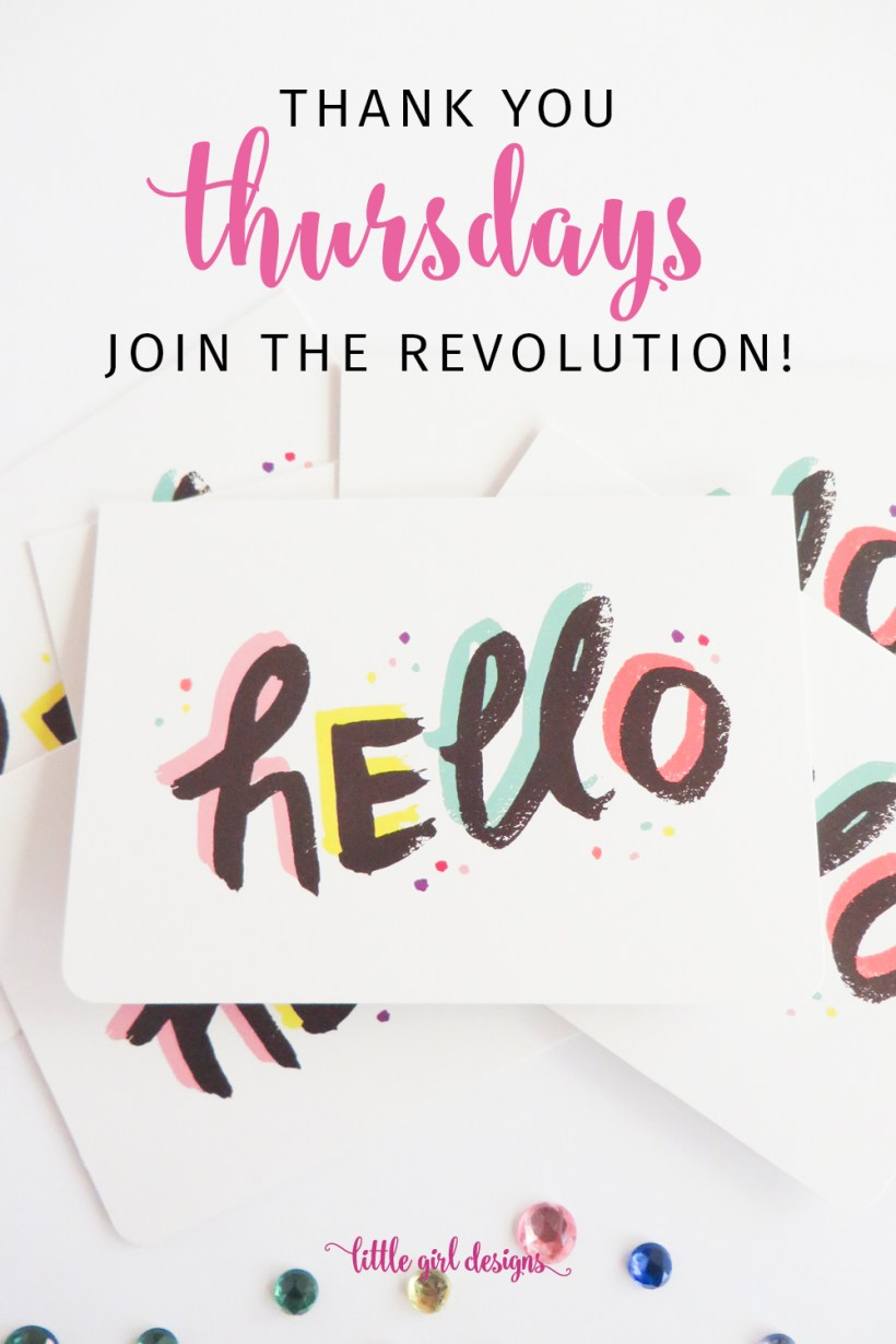 Have you heard about the Thank You Thursdays revolution? This simple practice will completely revolutionize your life. AND the lives of others. It's free but oh so meaningful. Join us!