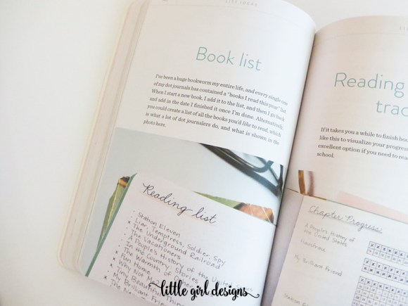 I love this book list idea from Dot Journaling: a Practical Guide