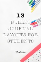 13 Bullet Journal Layouts For Students