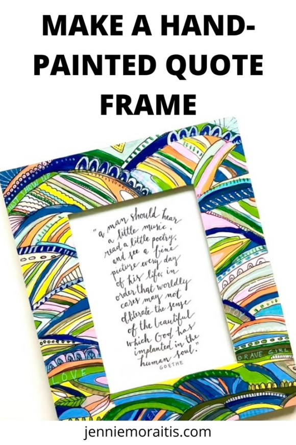 Learn how to make a hand-painted quote frame for a gift this year. Plain frames can be decorated in so many ways—here are some ideas to get you started on this fun and easy craft!