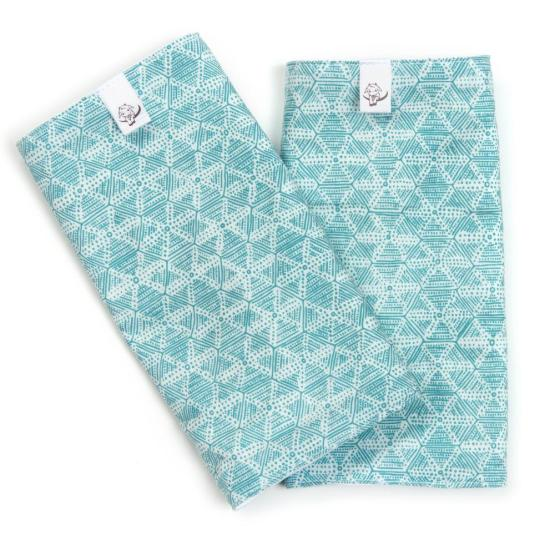 aqua sand dollar teething pads