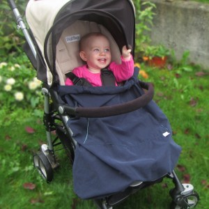 3-season baby carrier cover on a stroller