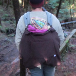 3-season baby carrier cover in back carry position