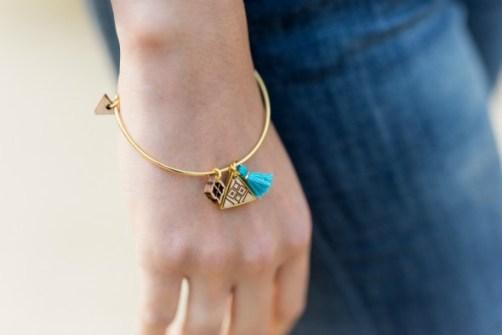 bracelet semeuse turquoise
