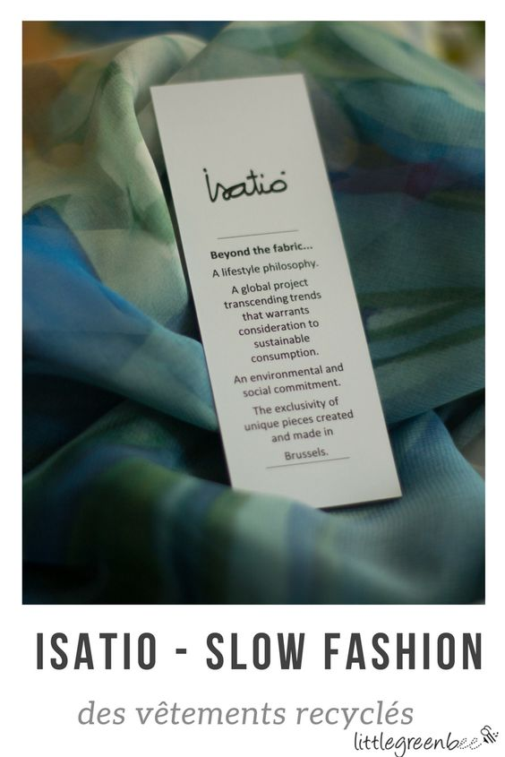 Isatió, c'est une marque de prêt-à-porter belge raffinée et délicate qui s'inscrit dans l'économie circulaire et le recyclage textile. Les vêtements sont fabriqués à partir de déchets de l'industrie de la mode. Chaque pièce est unique et en l'achetant, on redonne vie et sens à des textiles destinés au rebut.