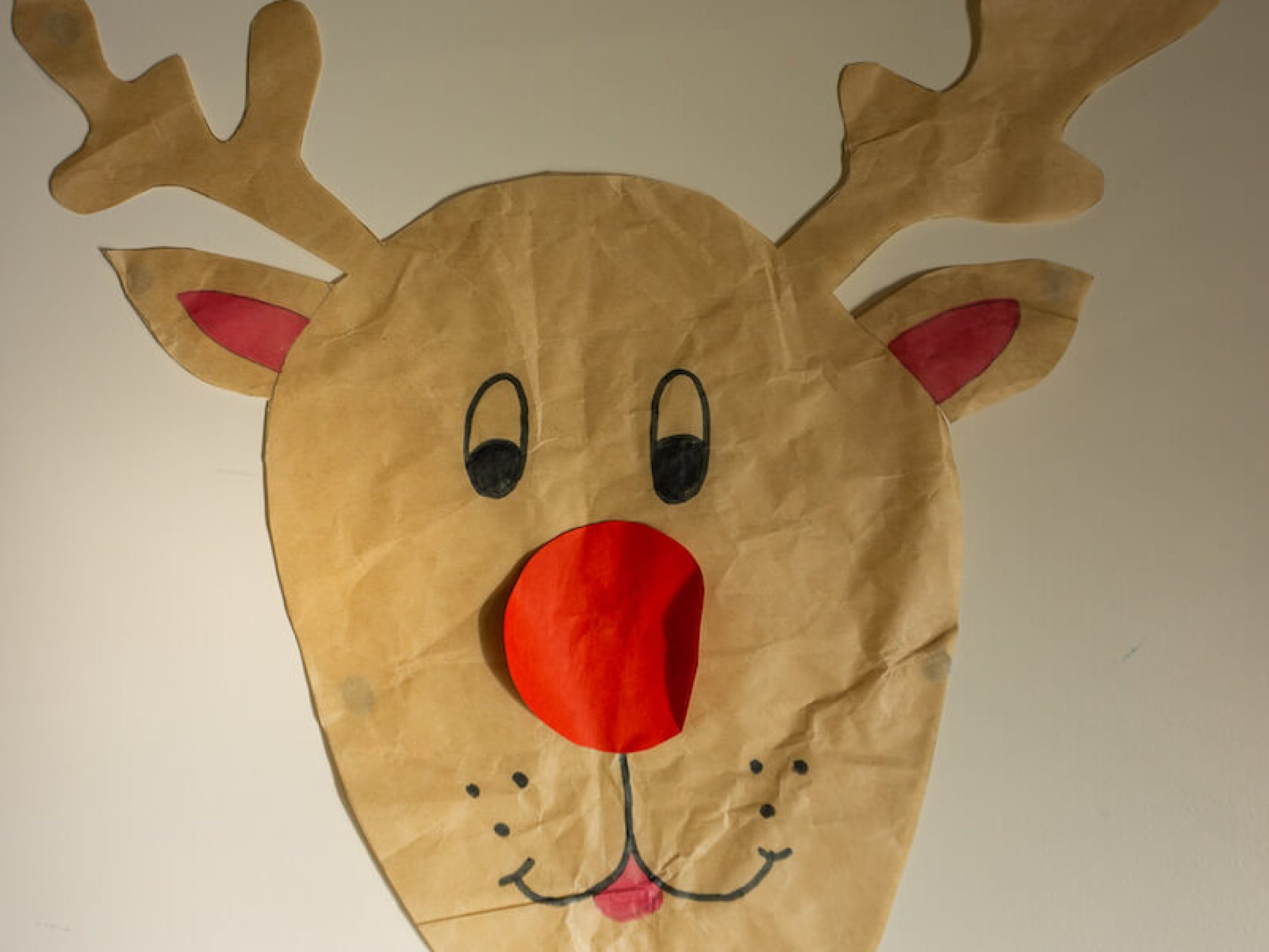 Eco friendly Christmas game, Pin the Nose on Rudolph, could be part of your green Christmas