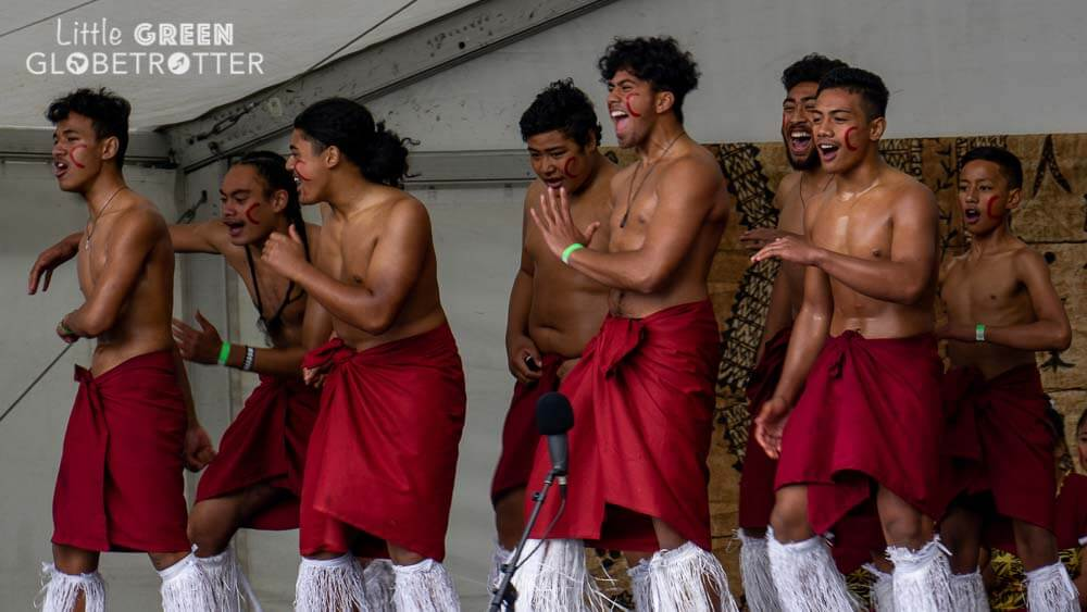 People dance at a celebration of Maori culture. A guide to Te Reo Maori.