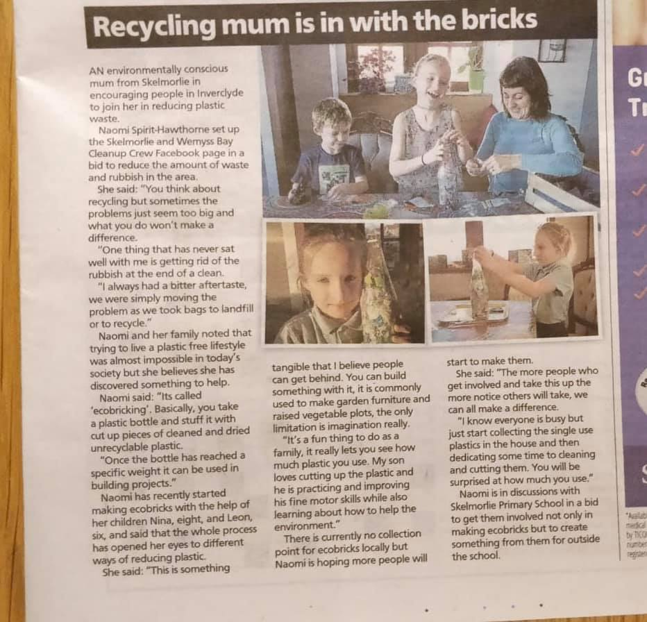 Greenock Tele - Ecorbrick Article