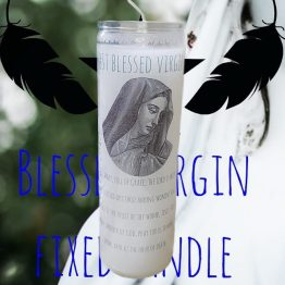 blessed virgin candle