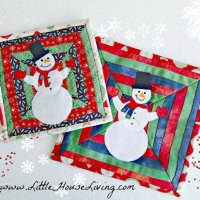 Snowman Christmas Potholder - Free Sewing Pattern