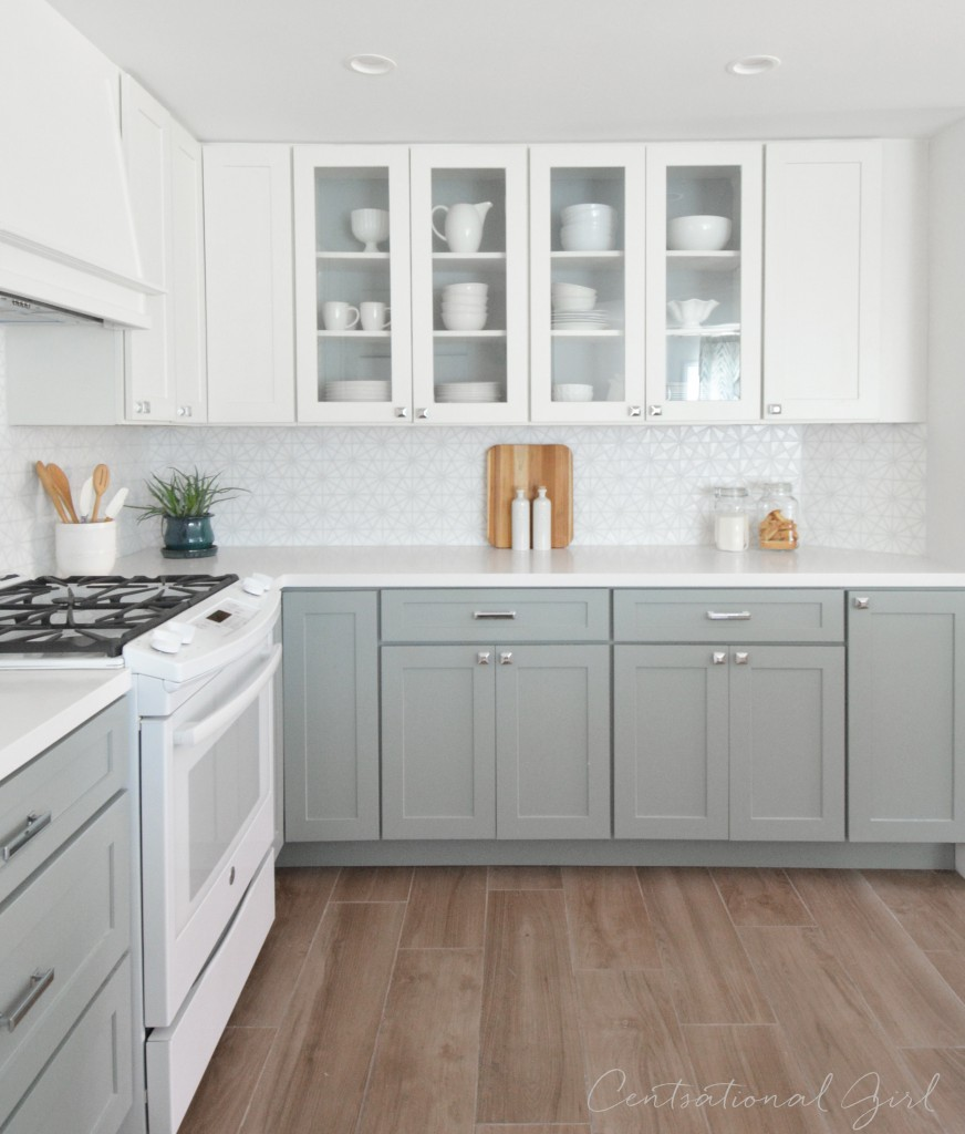 White Appliances as a design feature in the kitchen ...