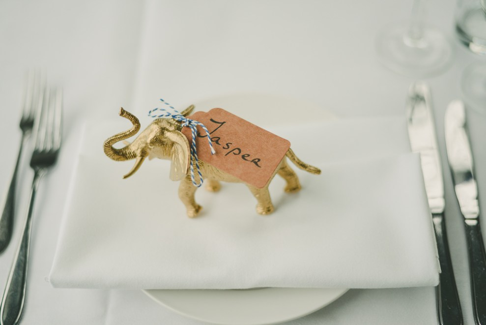 Wedding Dinner Amsterdam Bruiloft Gemeenlandshuis Gold Plastic Animals