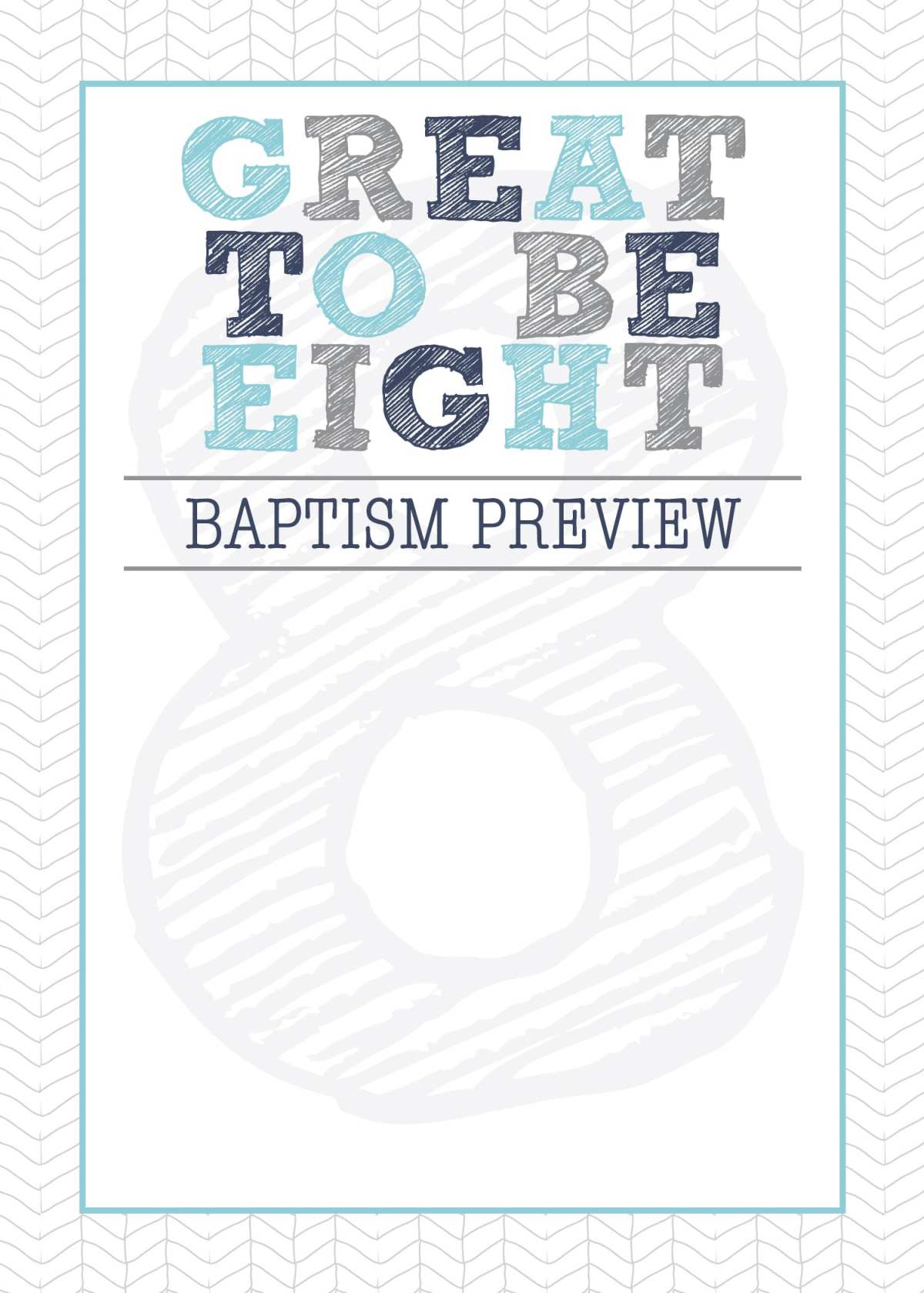 LDS Baptism Preview. LDS Great to Be Eight Invitation and printables from Little LDS Ideas