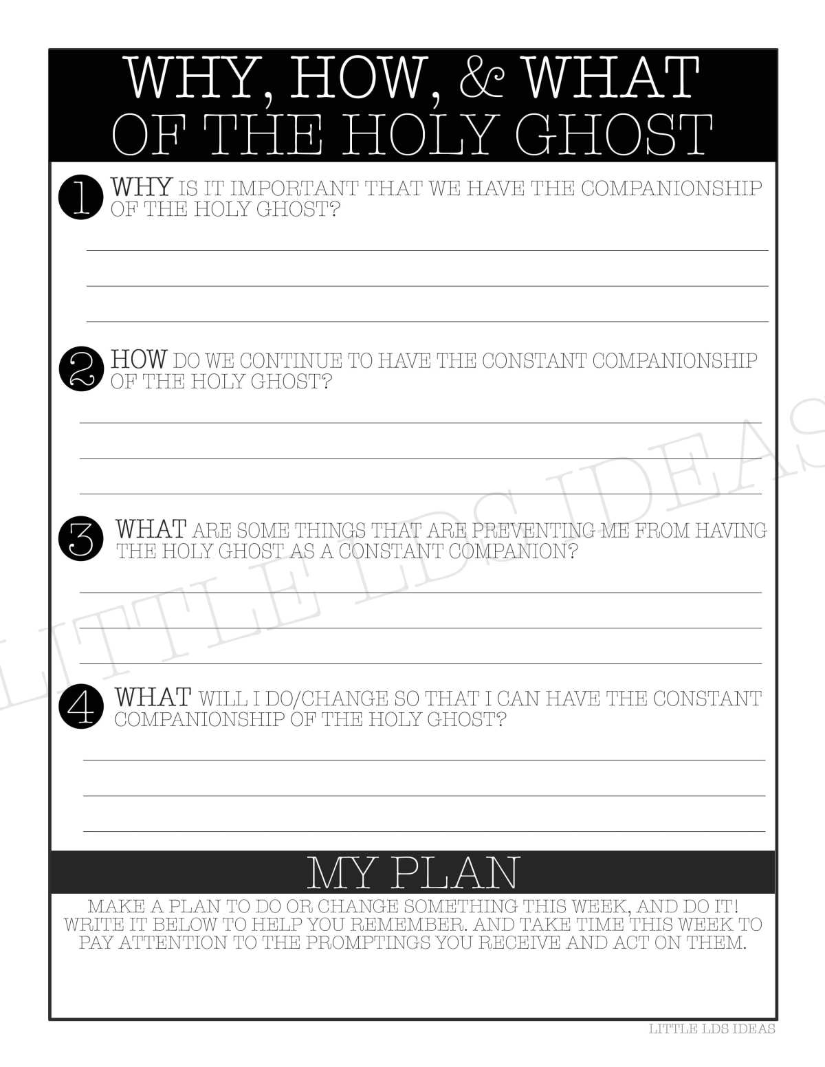 LDS General Conference Teaching Tips. How, Why, and What of the Holy Ghost. Idea and printable included! Little LDS Ideas