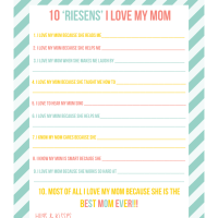Riesens Mother's Day Questionnaire