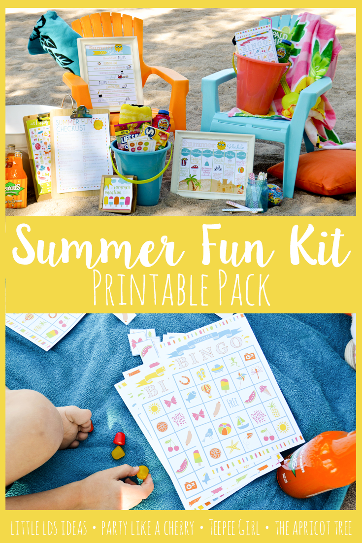 Have fun and make some great memories this summer with this Summer Fun Kit from Party Like a Cherry, Teepee Girl, Little LDS Ideas, and The Apricot Tree. Visit the blog for FREEBIES or purchase the kit.