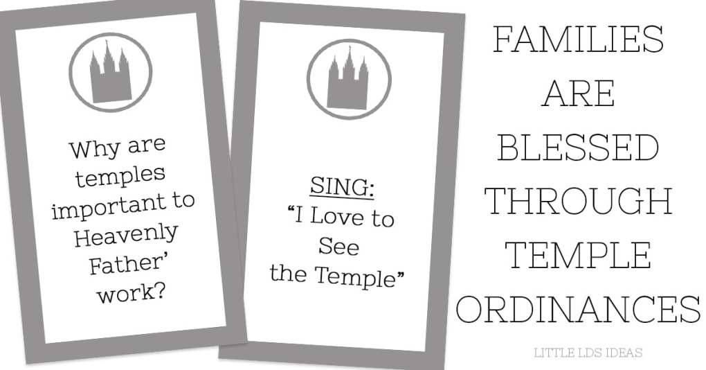 Families are Blessed through Temple Ordinances