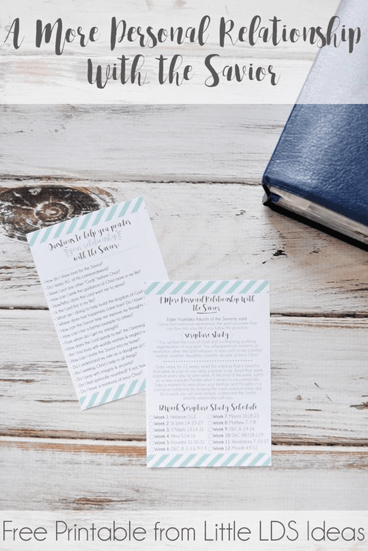 How is your relationship with Jesus Christ? This 12 week Scripture Study challenge and free printables from Little LDS Ideas will help you strengthen your relationship.