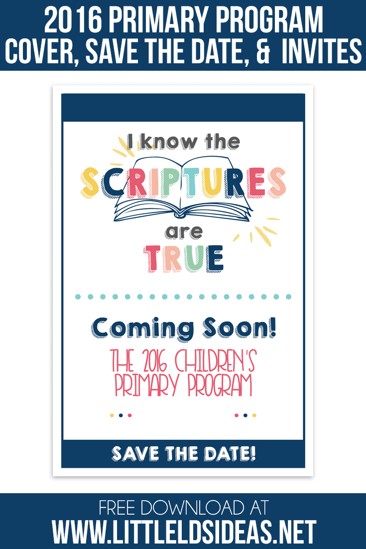 Are you ready for the 2016 Primary Program? Here are some great Primary Program Invites and Program Covers. Free Printables from Little LDS Ideas
