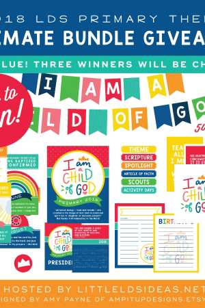 2018 LDS Primary Bundle Giveaway