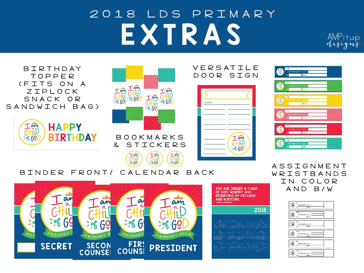 2018 LDS Primary Printables