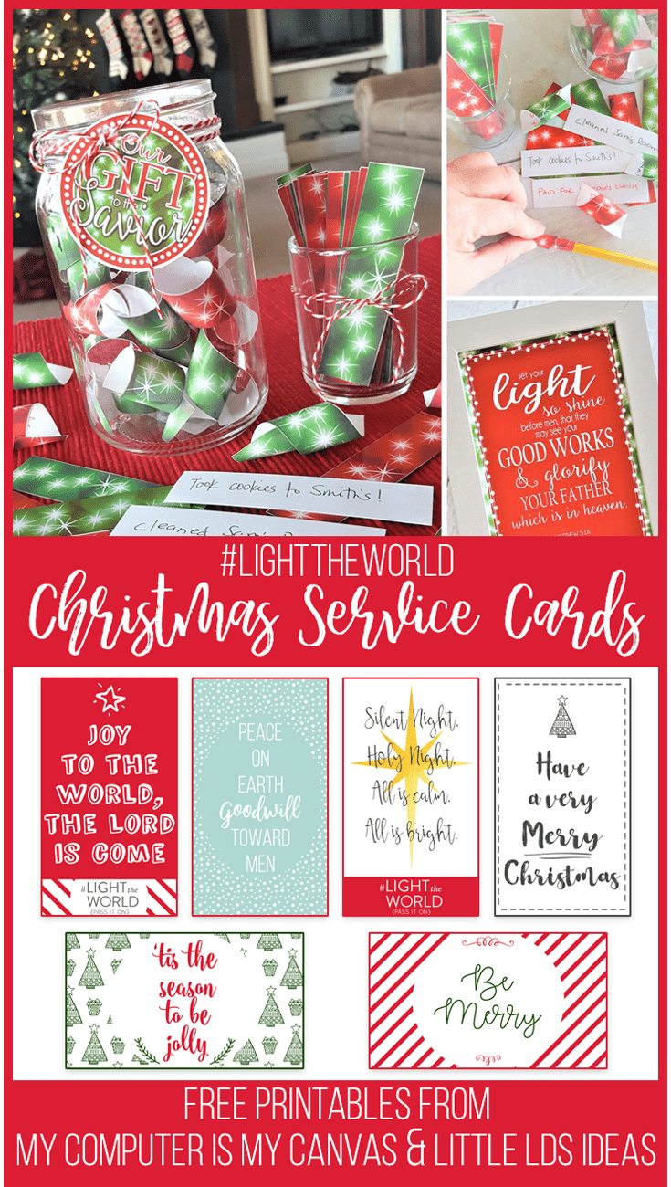 Need an idea to help you #LIGHTtheWORLD with small acts of service? Here are some great ideas and printables that you can use!