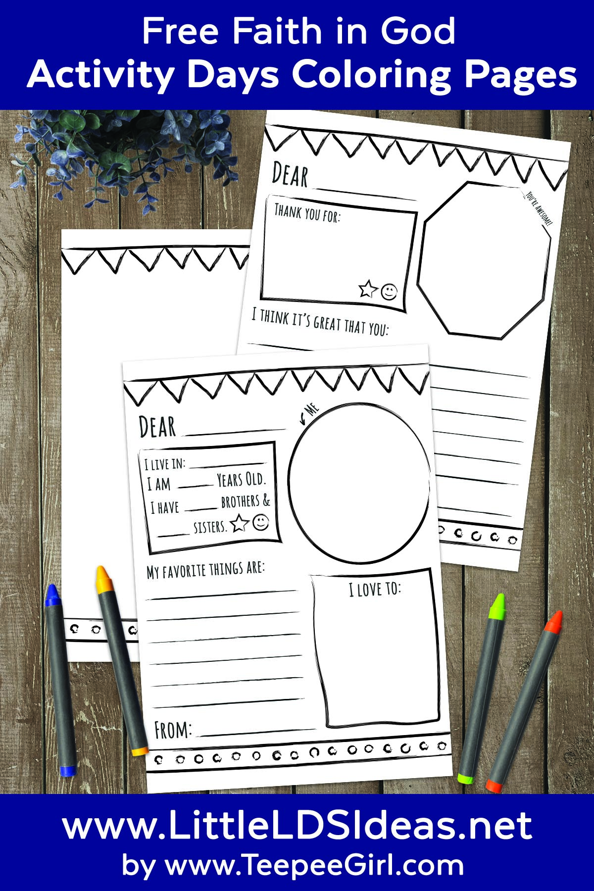 Need a fun activity for your next Activity Days get-together? Have them write Thank You letters or write to a pen pal using these cute printables!