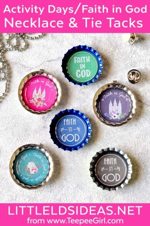 Activity Days Faith In God Gift Necklace