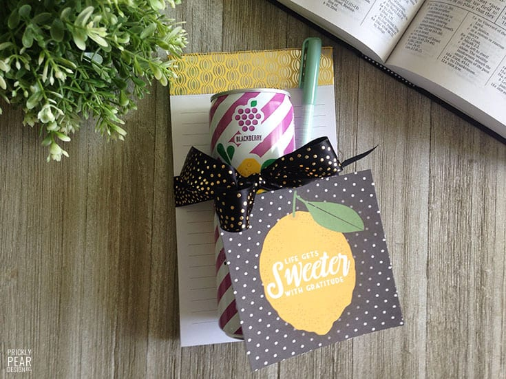 Life Gets Sweeter with Gratitude Treat Tag | Pick Me Up Treat Tags for Relief Society & Young Women Groups | LDS Printables | Friendshipping Tags | Free Printable