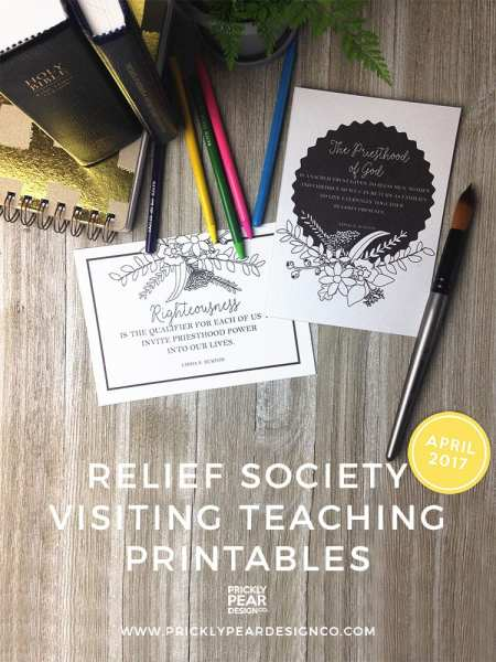 Relief Society Visiting Teaching Printables | The Oath & Covenant of the Priesthood | April 2017 Visiting Teaching Message | Prickly Pear Design Co.