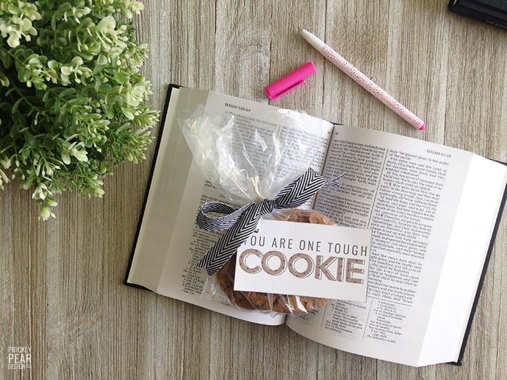 You Are One Tough Cookie Treat Tag | Pick Me Up Treat Tags for Relief Society & Young Women Groups | LDS Printables | Friendshipping Tags | Free Printable