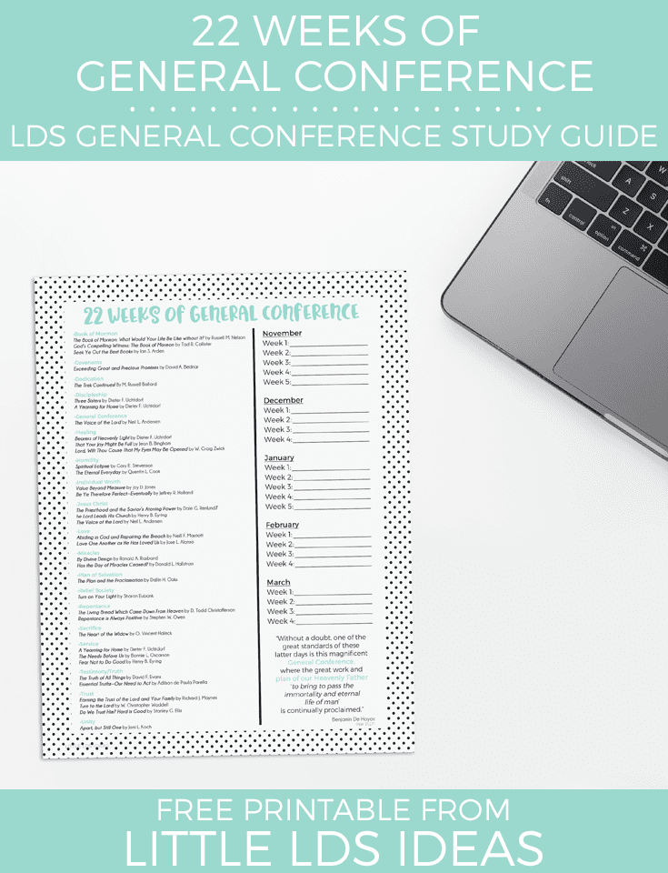 LDS General Conference Study Guide