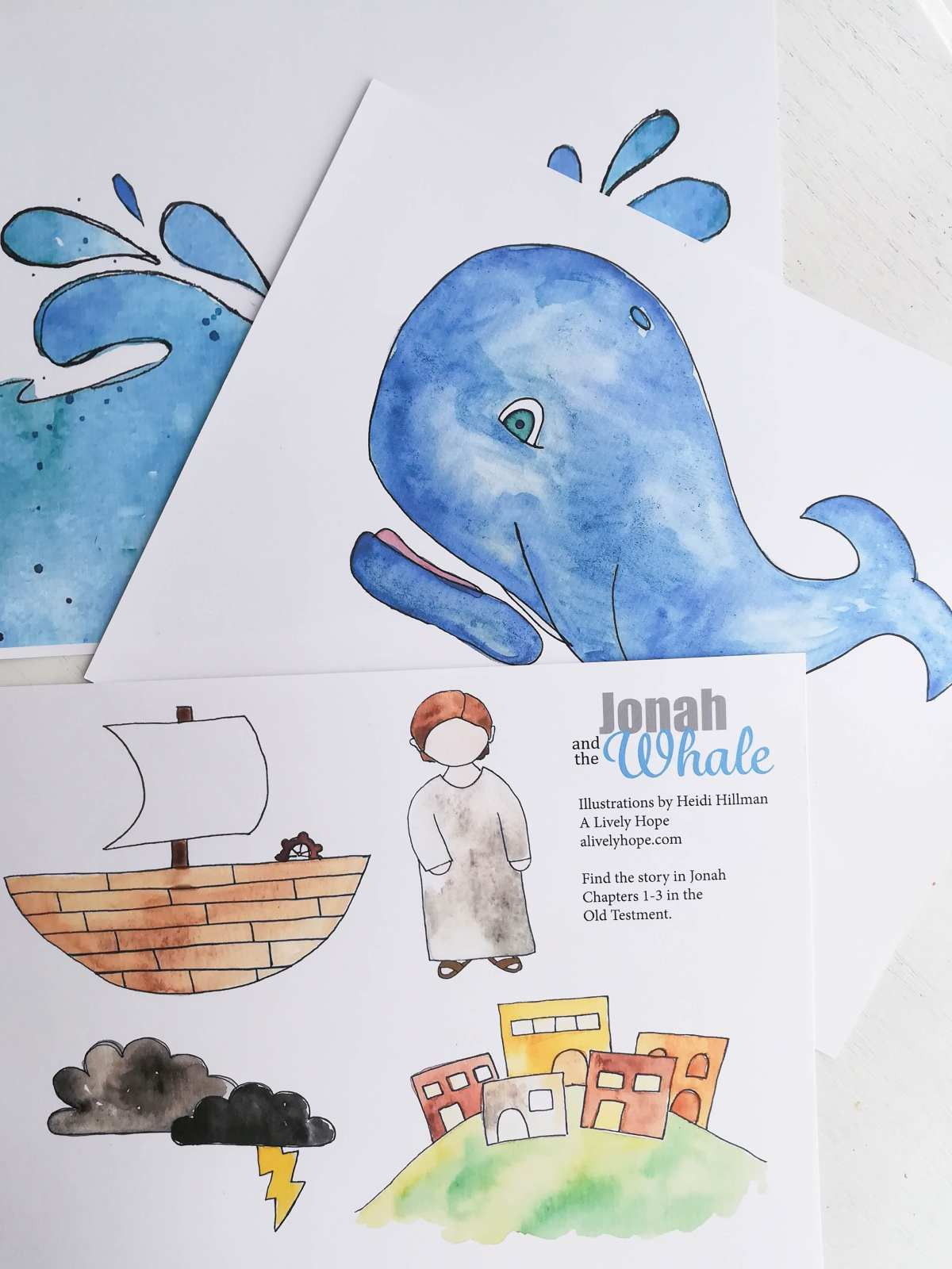 Jonah and the Whale Printables