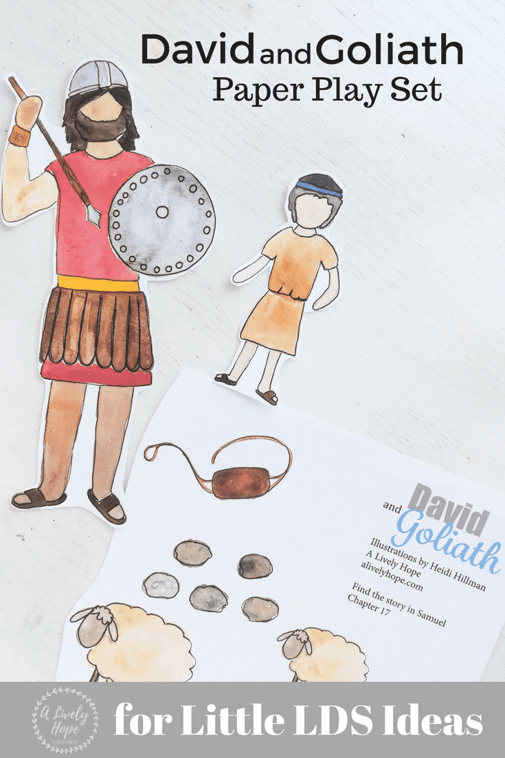 David and Goliath Printables. This David and Goliath Paper Play Set would make a perfect family home evening lesson or a great way to entertain kids during sacrament meeting. Free Printable!