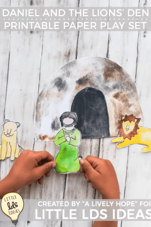 Daniel and the Lions' Den Paper Play Set Printable