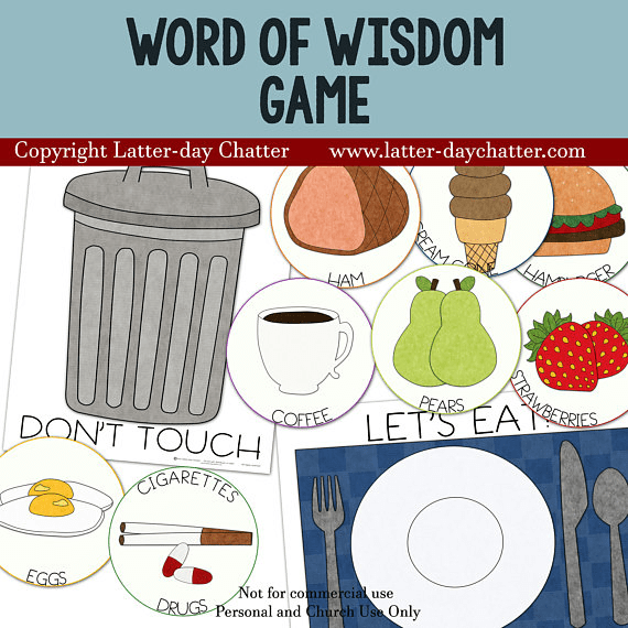 Word of Wisdom Game from Latter-day Chatter