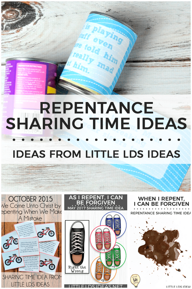 June 2018 Week 4 Sharing Time Idea. When I Repent, I Can Be Forgiven. Repentance Sharing Time Ideas from Little LDS Ideas.