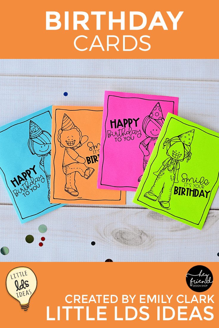 Need a quick Birthday Card? Stop by and download four different Black & White Birthday Cards today! Perfect for Primary Kids, Activity Days, Cub Scouts, & more!