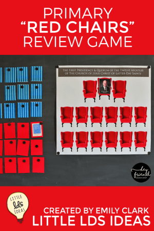 """""""Red Chair"""" General Conference Review Game Activity"""