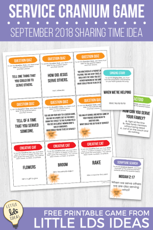 Service Cranium Game and Printables