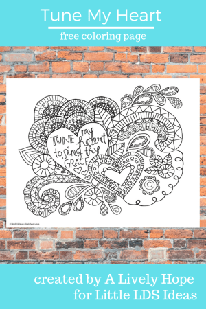 Tune My Heart Coloring Page