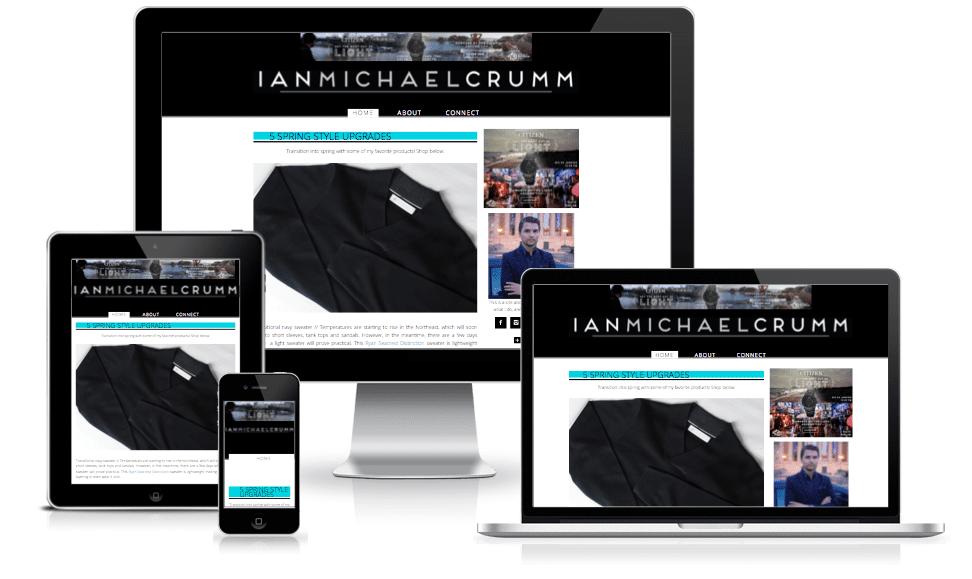 Ian Michael Crumm Fashion blogger