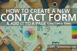 Contact Forms: How to Add A New Form