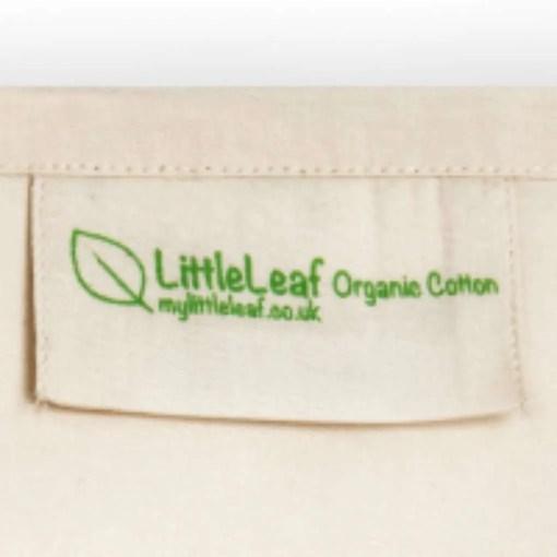 Littleleaf organic cotton pillowcase label