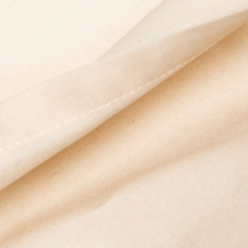 100% organic cotton fitted sheet in natural unbleached colour